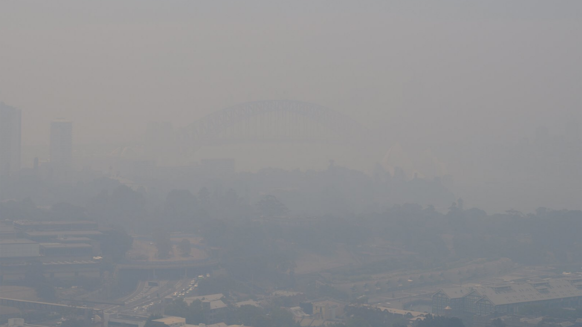 After-Drag the slider back and forth across the image of Sydney above, to see the city with clean air and how the atmosphere in December 2019 was thoroughly polluted by smoke from bushfires inland. What you see here, was viscerally felt.