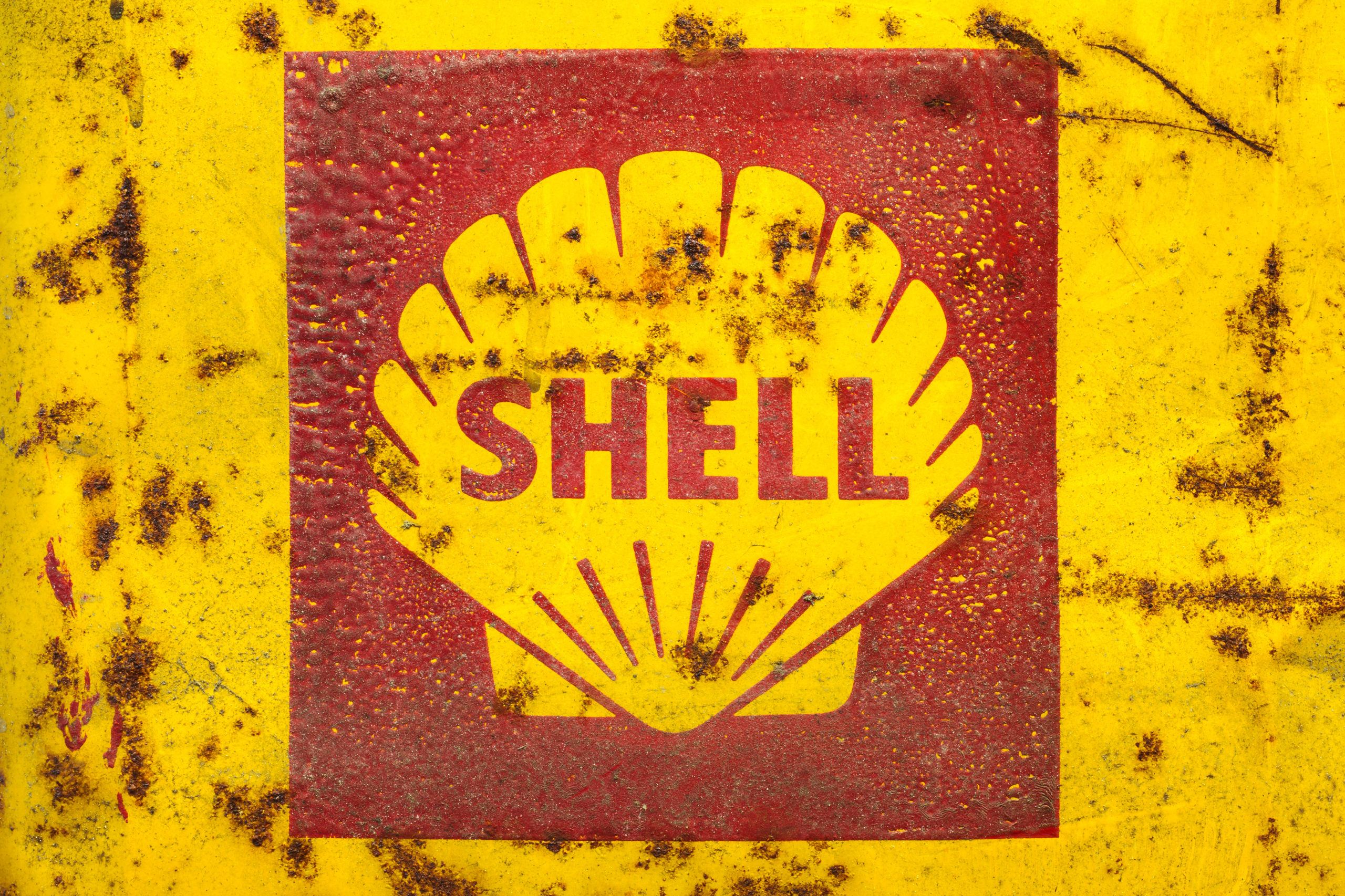 Vintage emblem of the Shell Oil Company